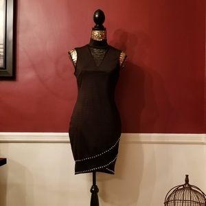 Love J Mock Neck Studded Dress